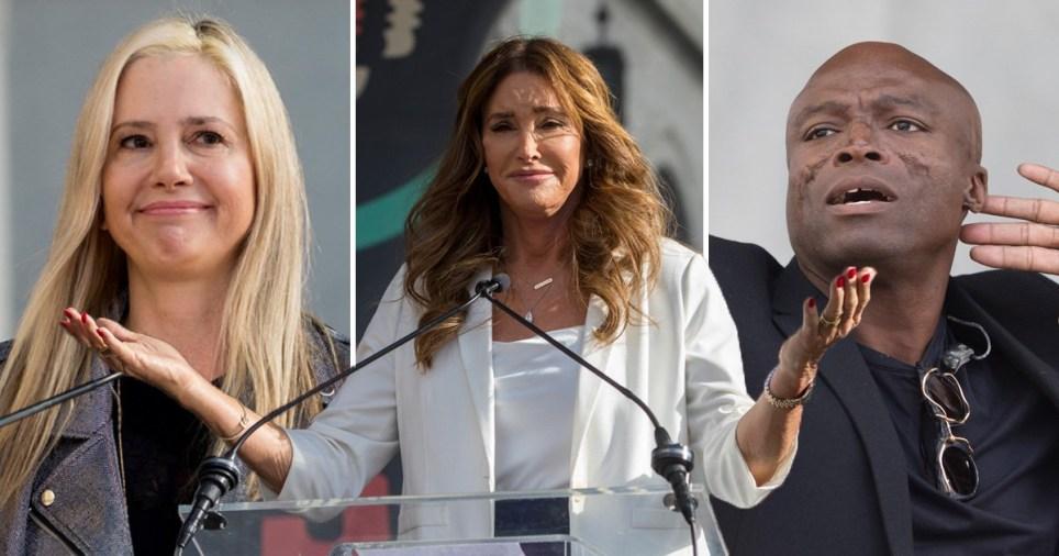 Mina Sorvino, Caitlyn Jenner and Seal