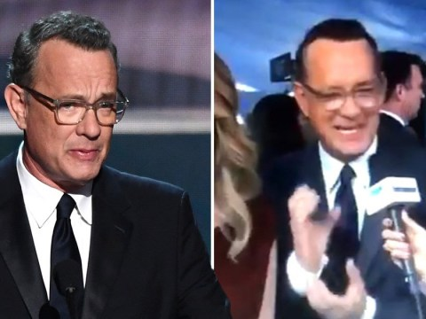 Tom Hanks' rather unfortunate hand gesture at the SAG awards 2020 has us howling
