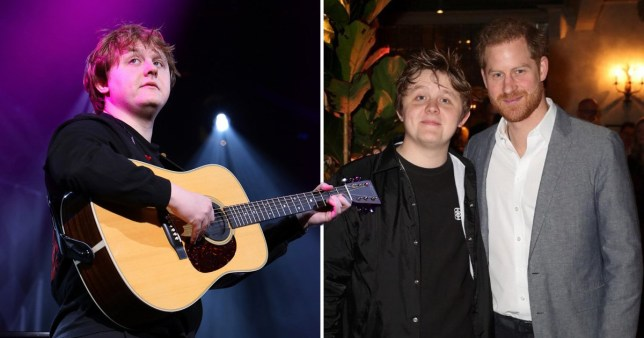 Lewis Capaldi and Prince Harry