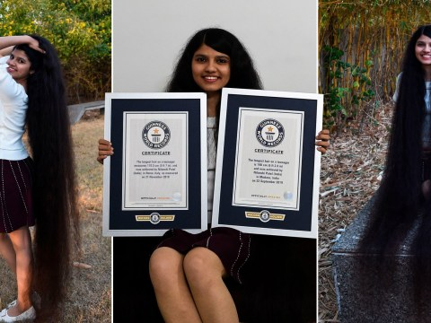 Real-life Rapunzel teenager breaks own record with 6ft 2in long hair