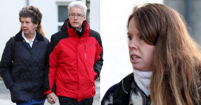Lauren Etchells (right) and her parents Brian Etchells and Angela Hardy, appear at Jersey Magistrates Court