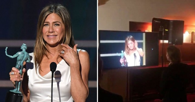 Jennifer Aniston thinks it's 'sweet' that Brad Pitt stopped to watch her SAG Awards speech