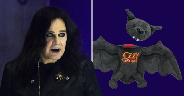 Ozzy Osbourne releases merchandise of a toy bat