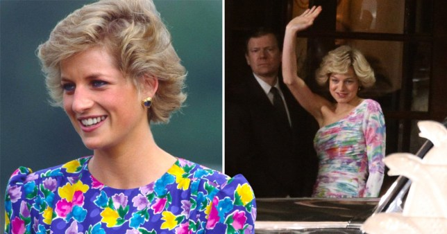 Emma Corrin portrays Princess Diana in The Crown