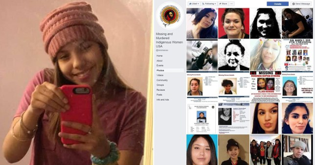 The body of teenager Selena Not Afraid has sparked national outrage over the dozens more indigenous women missing or murdered in the US