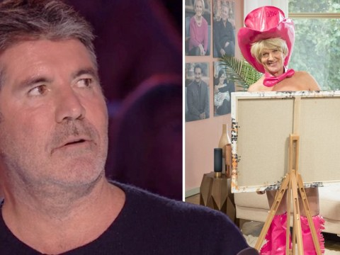 Simon Cowell 'storms out' of Britain's Got Talent auditions and 'goes home' after man paints portrait of him using his penis
