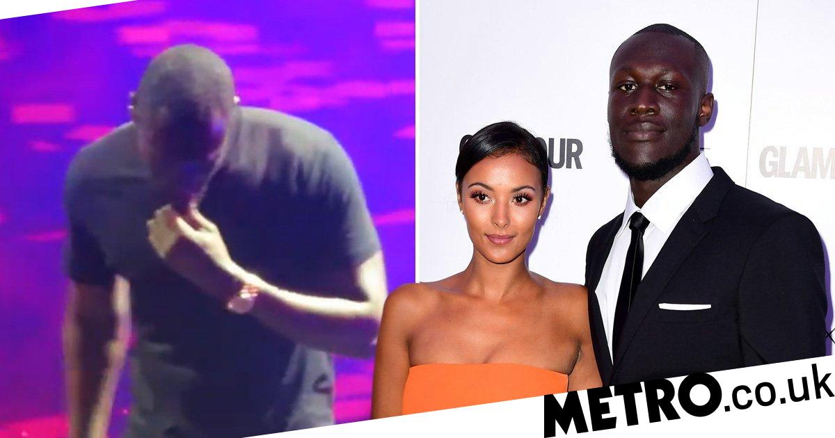 Stormzy struggles through performance of song about Maya Jama