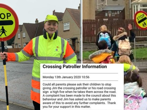 Busybody wrongly tells lollipop man he's banned from high fiving children