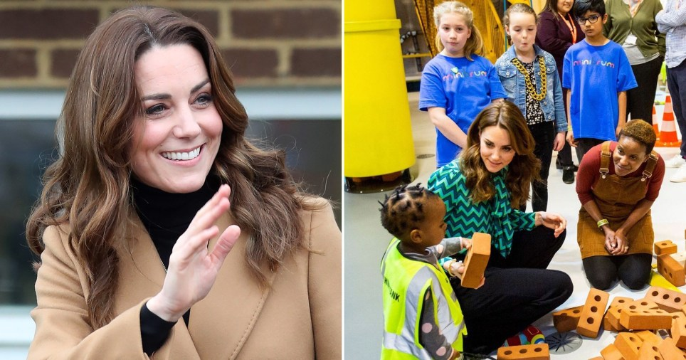 Kate Middleton, Duchess of Cambridge, visiting children in Cardiff, Wales