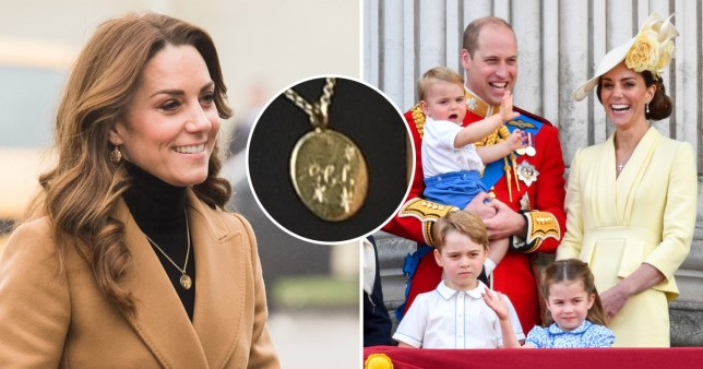 Kate Middleton wears necklace engraved with the letters G, C and L