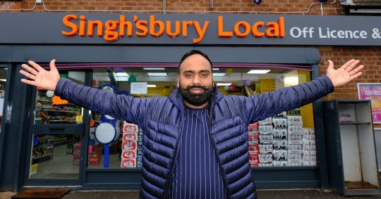 Mandeep Singh Chatha says he wouldn't know what to do if Sainsbury's asked him to change the name (Picture: SWNS)