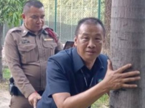 Thai police re-enact couple having sex against tree to catch culprits