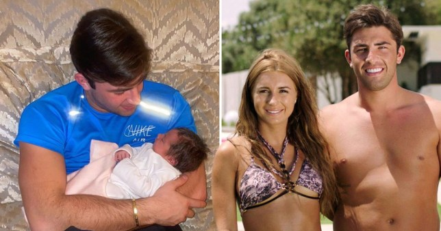 jack fincham, his baby daughter blossom and dani dyer