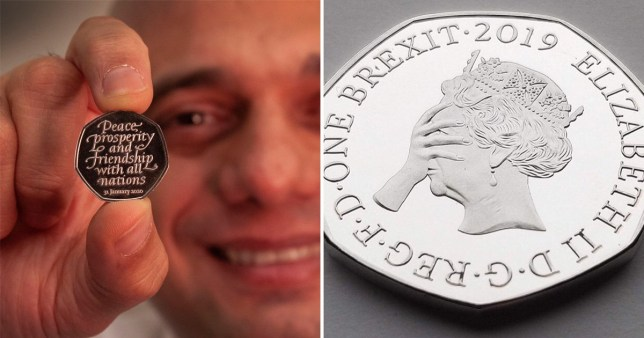 Sajid Javid relentlessly mocked online after unveiling new 50p Brexit coin