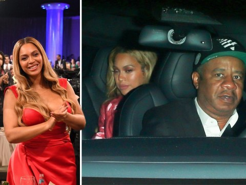 Beyonce ready to hit the hay after leaving Clive Davis' pre-Grammy bash with Jay Z