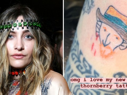 Paris Jackson gives herself a Vincent Van Gogh tattoo but it sure does look like Nigel Thornberry
