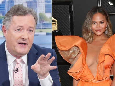 Piers Morgan takes aim at Chrissy Teigen over her neon Grammys dress and it ain't pretty
