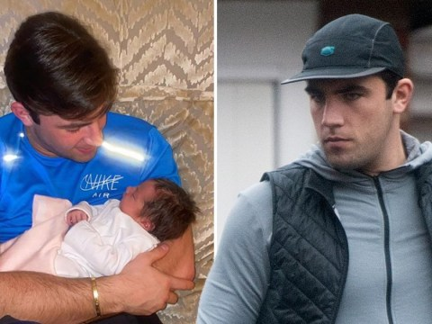 Jack Fincham returns home from gym workout after welcoming his baby daughter Blossom into the world