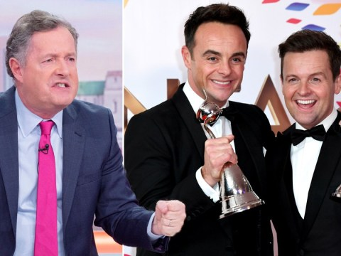 Piers Morgan livid and 'feels sick' as Ant and Dec win NTA for 19th year in a row