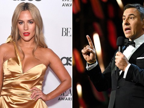 What was the 'painful' joke David Walliams made about Caroline Flack at the NTAs?