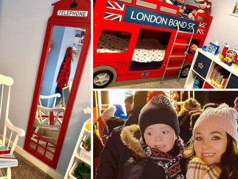 Mum turns son's bedroom into mini London and saves over £700