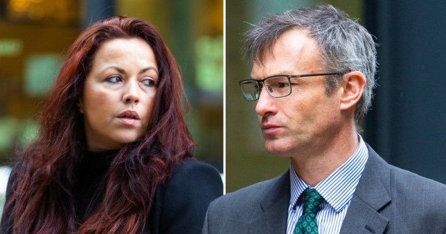 Bank boss accused of sex with worker in staff toilets insists he was just comforting her during messy divorce