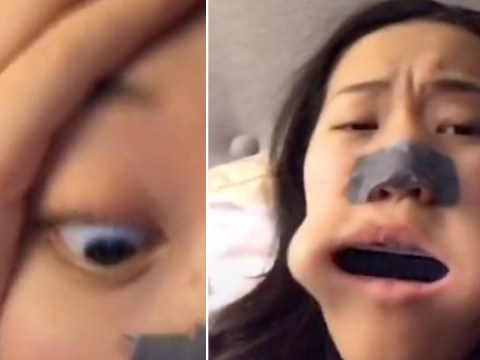 Teenager got harmonica stuck in her mouth and it made noises as she breathed