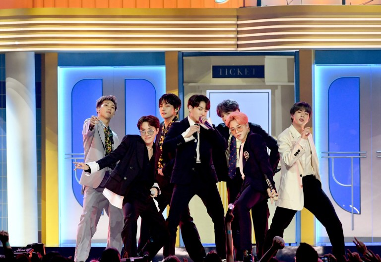 LAS VEGAS, NEVADA - MAY 01: BTS perform onstage during the 2019 Billboard Music Awards at MGM Grand Garden Arena on May 01, 2019 in Las Vegas, Nevada. (Photo by Kevin Winter/Getty Images for dcp)