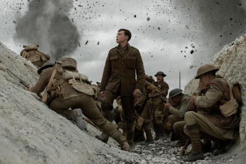 FILM: George Mackay as Schofield in the film 1917 (2019). Free PR pic