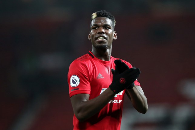 MANCHESTER, ENGLAND - DECEMBER 26: Paul Pogba of Manchester United applauds fans after the Premier League match between Manchester United and Newcastle United at Old Trafford on December 26, 2019 in Manchester, United Kingdom. (Photo by Ian MacNicol/Getty Images)