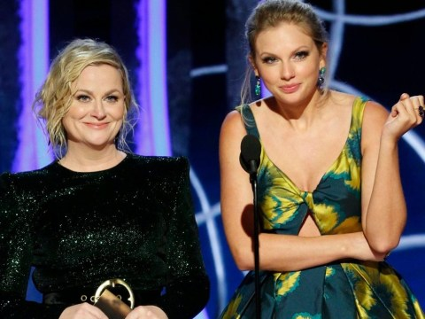Taylor Swift and Amy Poehler bury the hatchet as they take to Golden Globes stage after 'feud'