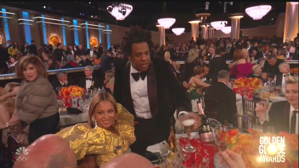 Beyonce and Jay-Z at the Golden Globes