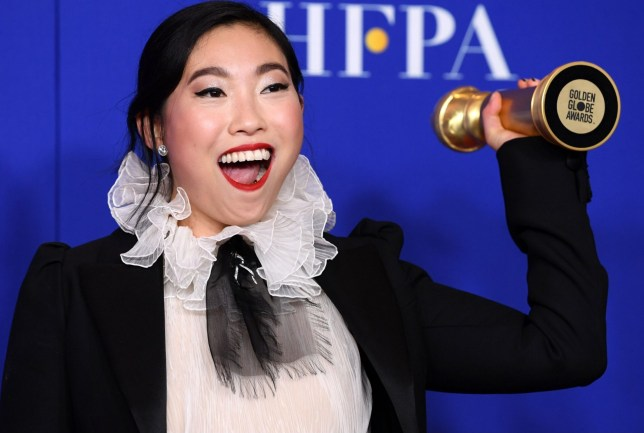 Mandatory Credit: Photo by REX (10517027fo) Awkwafina - Best Performance by an Actress in a Motion Picture, Musical or Comedy - The Farewell 77th Annual Golden Globe Awards, Press Room, Los Angeles, USA - 05 Jan 2020