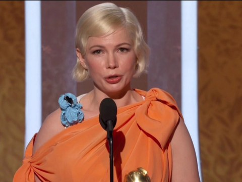 Michelle Williams advocates for women's right to choose in powerful Golden Globes speech