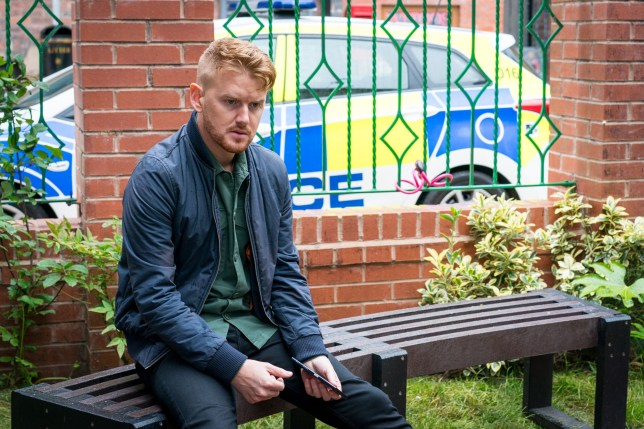 Editorial use only Mandatory Credit: Photo by ITV/REX (10328435x) Ep 9828 Monday 22nd July 2019 - 2nd Ep The police haul Gary Windass, as played by Mikey North, in, is this the end for Gary? 'Coronation Street' TV Show UK - 2019