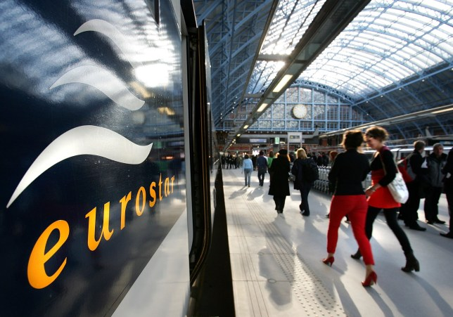 close up of eurostar in station