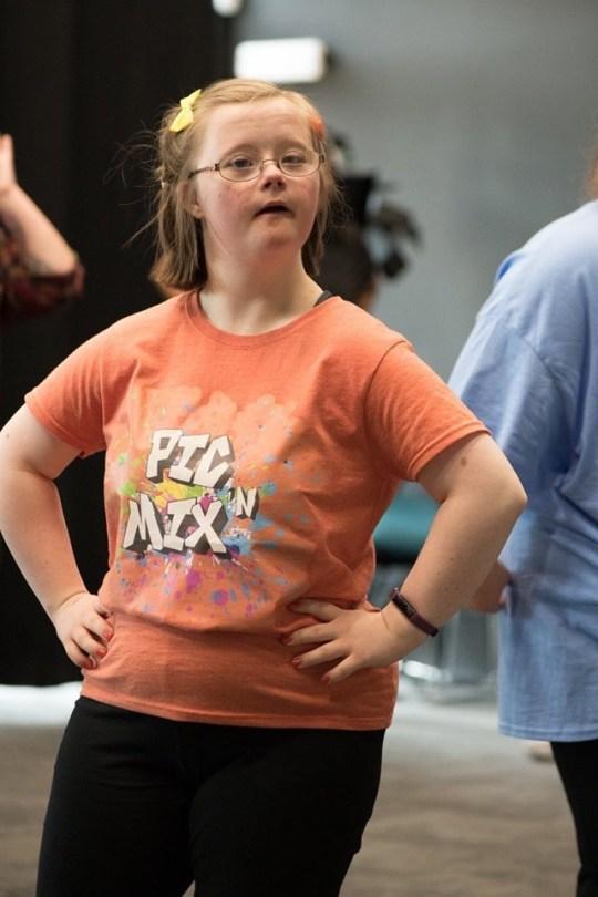 18-year-old Francesca Goff dancing