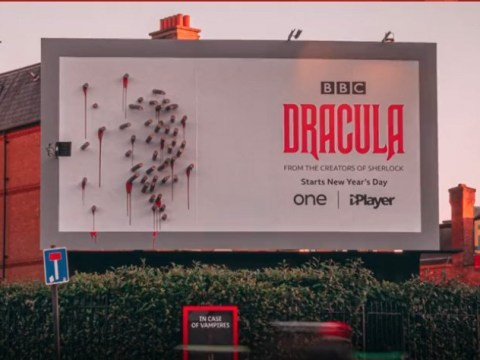 Dracula bosses erect terrifying billboard that comes to life at night and we're obsessed