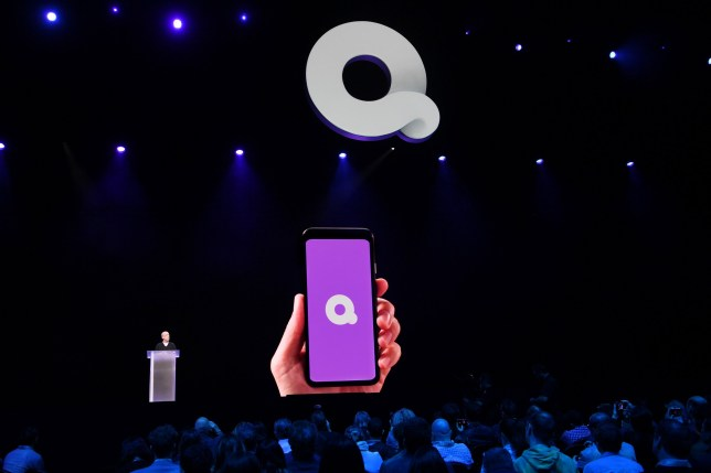 LAS VEGAS, NEVADA - JANUARY 08: Quibi Founder Jeffrey Katzenberg speaks on stage at CES at the Park Theater in Park MGM on January 08, 2020 in Las Vegas, Nevada. (Photo by Denise Truscello/Getty Images for Quibi)