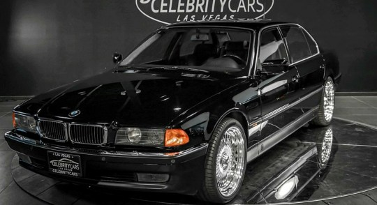 The car which rapper Tupac Shakur was in when he was shot dead