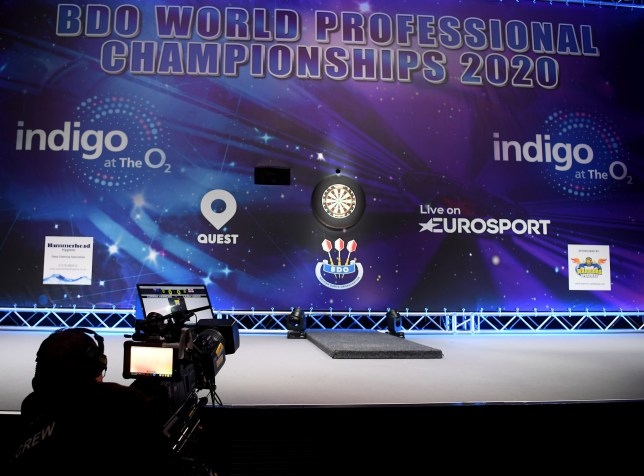 LONDON, ENGLAND - JANUARY 09: A detailed view of the stage prior to Day Six of the BDO Darts Championships 2020 at O2 Indigo on January 09, 2020 in London, England. (Photo by Alex Davidson/Getty Images)