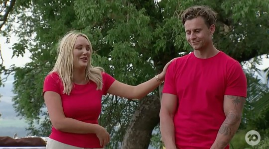 Charlotte Crosby and Ryan Gallagher on Australian I'm A Celebrity... Get Me Out of Here! (Picture: Ten)