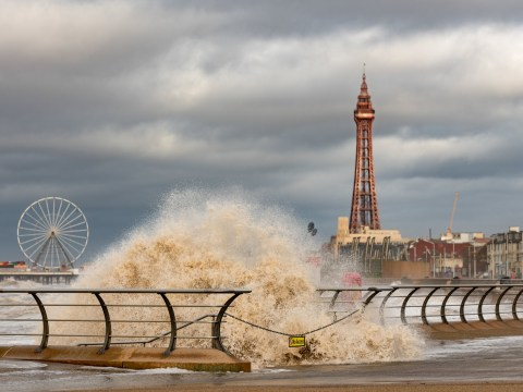 Major search launched over fears man was 'swept away' in rough seas in Blackpool