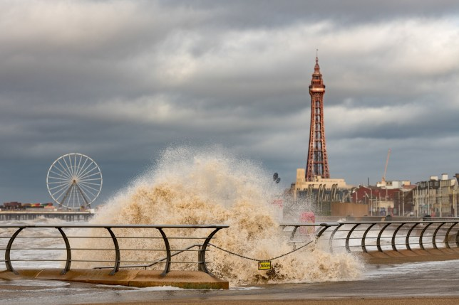 Picture supplied by Stephen Cheatley/Bav Media 07976 880732. Picture dated January 11th shows stormy weather in Blackpool on Saturday afternoon. The Met Office forecast states on Saturday heavy rain and strong winds across some northern parts may cause a few travel issues. Further south, generally dry, even some brightness. Mild everywhere, very mild in some northern parts. Outlook for Sunday to Tuesday: Rain clearing southeastwards on Sunday with brighter, showery conditions following. Gales and heavy rain moving east later Monday with brighter conditions on Tuesday. Perhaps windy and wet again later Tuesday.