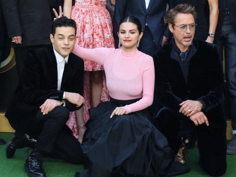 Selena Gomez fools around with Dolittle co-stars Rami Malek and Robert Downey Jr at LA premiere