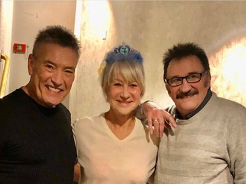 Helen Mirren meets Paul Chuckle and goes for curry on wholesome night out in Bradford