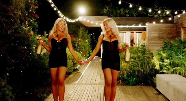Love Island contestants Jess and Eve Gale