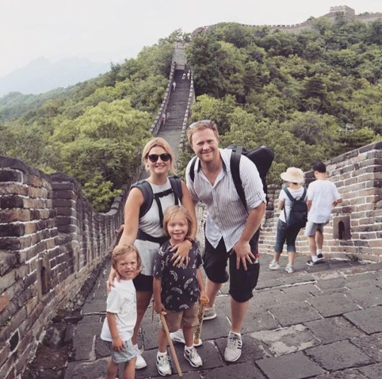 Farr family visit Great Wall of China