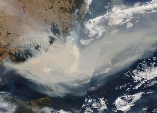 Smoke from Australian wildfires will make a 'full circuit' around Earth, Nasa says