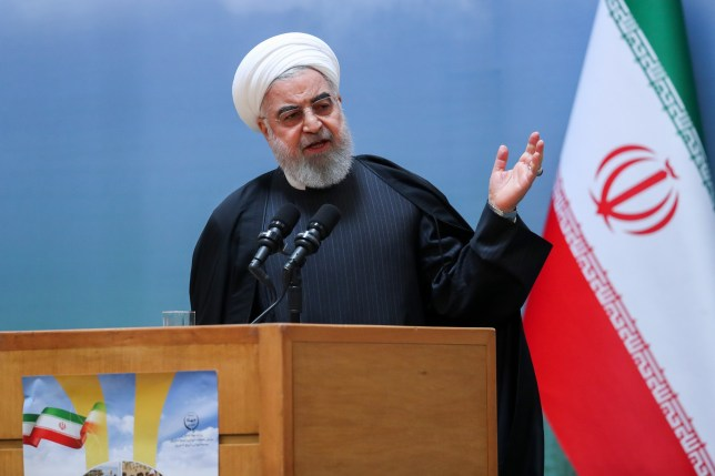epa08126726 A handout photo made available by Iran's Presidential Office shows Iranian President Hassan Rouhani delivering a speech during a meeting with farmers, in Tehran, Iran, 14 January 2020. Media reports state on 14 January 2020, President Rouhani said that the accidental shooting down of a Ukrainian passenger plane last week was an unforgivable error and that all those responsible will be punished. EPA/IRAN'S PRESIDENT OFFICE HANDOUT HANDOUT EDITORIAL USE ONLY/NO SALES